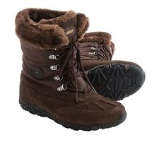 NIB WOMENS Allrounder by Mephisto West Snow Boots Waterproof Brown SZ 7