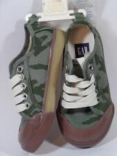 New Baby GAP Boy's Drab Olive Green CAMO Canvas Sneakers Shoes, Sz 6, 7, 9, 10