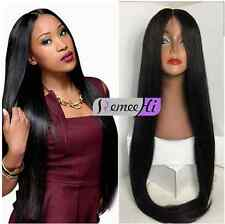Long silk straight 100% indian Human Remy Hair soft hair Full Lace Wig baby hair