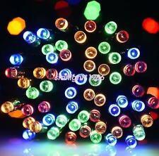 100/200LED Outdoor Fence Solar Fairy String Lights Gifts Christmas Tree Decor