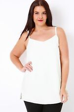 Plus Size Ivory Cami Top With Side Split Detail