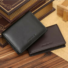 Men's Leather Bifold ID Credit Card Holder Wallet Purse Money Clip US Warehouse