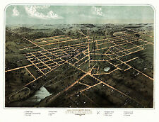 Antique Map Hillsdale Michigan 1866 Hillsdale County 18x24 24x36 36x54 Poster