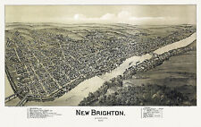 Old Map New Brighton Pennsylvania 1901 Beaver County 18x24 24x36 36x54 Poster