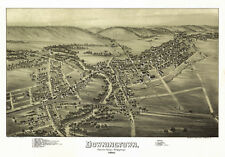 Old Map of Downingtown Pennsylvania 1893 Chester County 18x24 24x36 36x54 Poster
