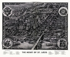 Map St. Louis Missouri 1907 St. Louis County 18x24 24x36 36x54 Poster NEW