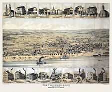 Map Tell City Indiana 1872 Perry County 18x24 24x36 36x54 Poster NEW