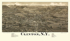 Historic Map Clinton New York 1885 Clinton County 18x24 24x36 36x54 Poster
