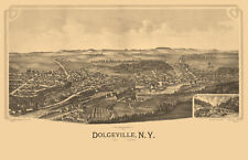 Vintage Map of Dolgeville New York 1890 Fulton County 18x24 24x36 36x54 Poster