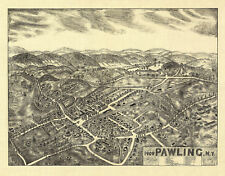 Historic Map of Pawling New York 1909 Dutchess County 18x24 24x36 36x54 Poster