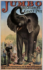 Jumbo The Giant Elephant Circus Poster 18x24 24x36 36x54 NEW! vintage repro