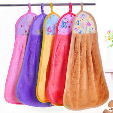 New Hand Drying Towel Soft Coral Velvet Bathing Washcloth Hanging Wipe Cloth