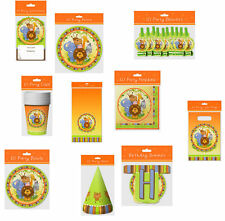 JUNGLE THEME BIRTHDAY PARTY TABLEWARE,INVITES ETC PACKS OF 10-ALL IN ONE LISTING