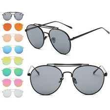 Fashion Retro Women UV400 Glasses Resin Lens Metal Frame Sunglasses Eyewear