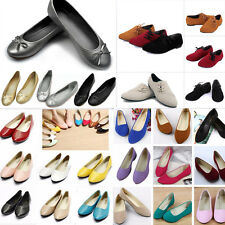 New Women Ballerina Ballet Dolly Pumps Ladies Flats Loafers Shoes Size 2.5 - 7.5