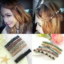 Women Girls Delicate Rhinestone Crystal Hair Clip Hairpin Barrette Bobby Pin