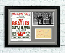 The Beatles Concert Poster and Autographs Memorabilia Poster Margate 1963