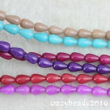 8x12mm Mixed Color Jasper Gemstone Teardrop Loose Beads Jewelry Making 15""