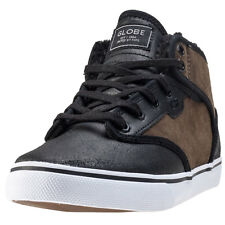 Globe Motley Mid Mens Trainers Chocolate Black New Shoes