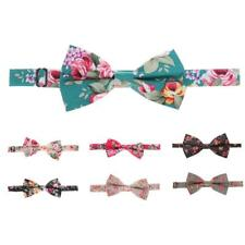 Men's Bowtie Bow Tie Floral Flower Wedding Party Costume Adjustable