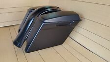"""4"""" STRETCHED SADDLEBAGS FOR HARLEY DAVIDSON WITH REAR FENDER AND LIDS INCLUDED"""