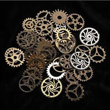 65pcs 100g Set Steampunk Jewelry DIY Watch Parts Cogs Gears Bronze Art Craft