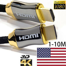 1-10M Braided Ultra HD HDMI Cable v2.0 High Speed   Ethernet HDTV 2160p 4K 3D US