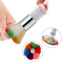 New Fashion Colorful Nail Art Dust Remover Cleaner Blush Brush With Drill Handle