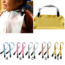 2 PCS Baby Infants Travel Napkin Blanket Adjustable Length Stroller Bib Clip New