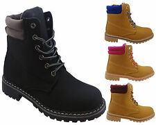 Ladies Hiking Boots Womens Winter Ankle Desert Trail Combat Chelsea Work Shoes