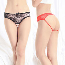 Sexy Floral Lace Cutout Crotchless Panties Womens Underwear Lingerie