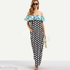 Women sexy strapless wave point print bodycon clubwear party cocktail dress