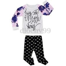 1-5Y Baby Kid Girl Child Fall Leisure Floral Print Top Pants Trouser 2Pcs Outfit