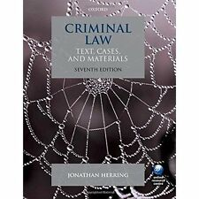 Criminal Law : Text, Cases, and Materials: Text, Cases, and Materials Herring, J