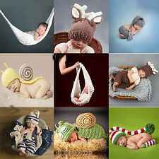 Newborn Baby Girls Boys Photography Photo Props Knit Crochet Costume Outfits