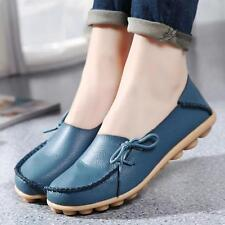 Women's Lady  Leather Shoes Casual  Slip On Flats Loafers Single Shoes Soft