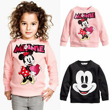 Baby Boy Girl Mickey Mouse Tops T-Shirt Kids Hoodies Sweatshirt Autumn Outfits