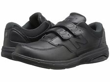 NEW MENS NEW BALANCE MW813H Black Leather HOOK AND LOOP WALKING SHOES NEW IN BOX