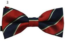 """Baby/Toddler/Young Boy's Red Patterned Bow Ties w/Blk 25"""" or 30""""-36"""" Suspenders"""