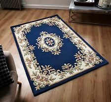 Chinese Pastel Col. BLUE Cream Oriental Aubusson Hand tufted THICK 100% Wool Rug