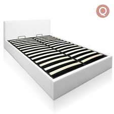 Deluxe Gas Lift PU Leather Storage Bed Frame