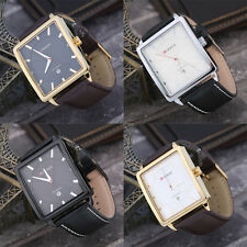 New Curren8117 Men's Sport Casual Leather Calendar Quartz Square Watch new LC