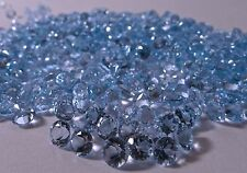 1mm to 8mm Natural Sky Blue Topaz Faceted Round Calibrated Size Loose Gemstone