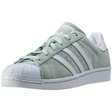 adidas Superstar W Womens Trainers Mint White New Shoes
