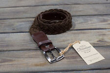 BUY 2 GET 1 FREE HANDMADE LEATHER&TEXTILE BRAIDED BELT NEW COLOURS MANY SIZES