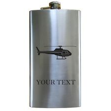 Personalized Engraved Helicopter 12 Oz Stainless Steel Pocket Hip Flask