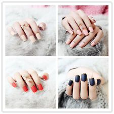 Nice 24pcs False Artificial Nails Designed French Manicure Nail Tips CN