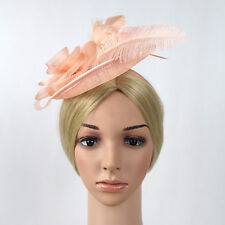 Sinamay Fascinator with Feather Flower - Occasion Wedding Races