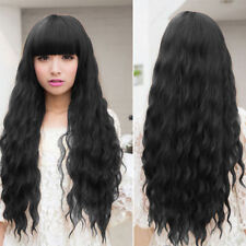Beauty Fashion Womens Lady Long Curly Wavy Hair Full Wigs Cosplay Party QP