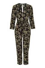 Topshop NEW black honeysuckle floral print wrap jumpsuit RRP £60 sizes 6-16